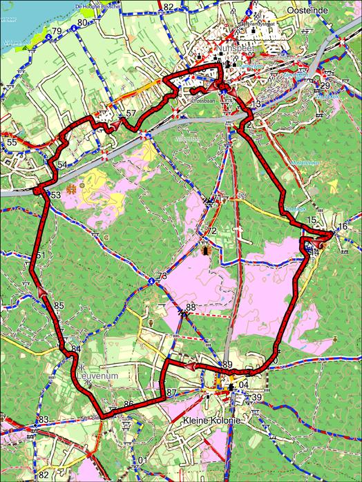 Fietsroute 38 km