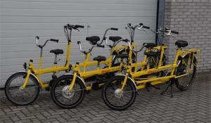 kindertandems in 3 uitvoeringen.