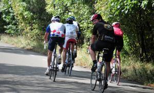 sportieve racefiets tocht