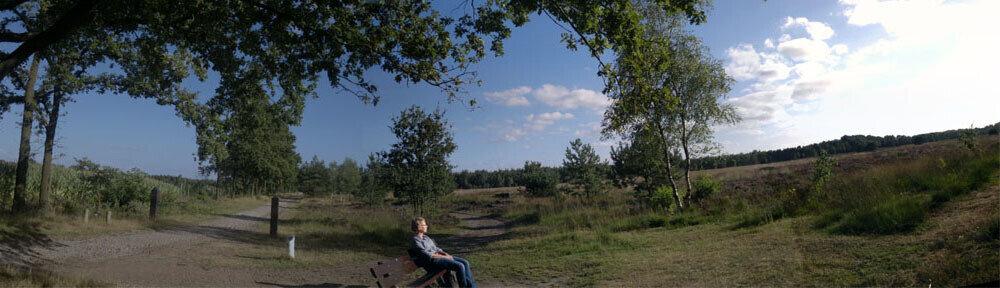 Even rusten op een bankje en genieten van het uitzicht. - Hoegen Fietsverhuur